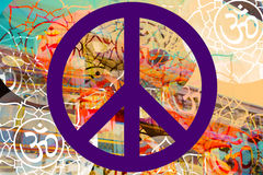 Foto di progettazione di hippy di pace Fotografia Stock Libera da Diritti