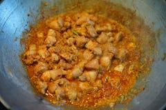 Foto di riserva - cucinare la carne di maiale del curry Fotografie Stock
