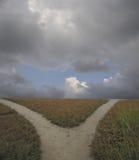 Foto di riserva del percorso biforcato Fotografia Stock Libera da Diritti