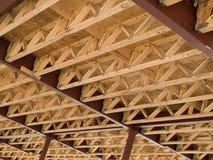 Foto di riserva della costruzione di alloggi del legno del blocco per grafici Fotografia Stock