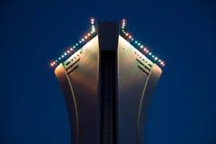 Foto di riserva della parte superiore dello stadio olimpico di Montreal fotografie stock libere da diritti