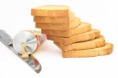 Foto di riserva della pila della fetta biscottata Fotografia Stock