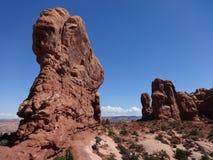 Foto di riserva di formazione rocciosa rossa, sosta nazionale degli archi Immagini Stock