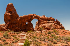 Foto di riserva di formazione rocciosa rossa, sosta nazionale degli archi Fotografie Stock