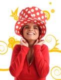 Foto di riserva di giovane donna graziosa illustrazione di stock