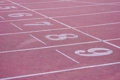 Foto di riserva - eseguire pista in stadio Immagine Stock Libera da Diritti