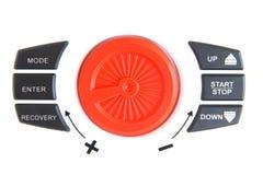 Foto di riserva: estratto dei bottoni di potere dell'attrezzatura di forma fisica Immagini Stock Libere da Diritti