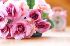 Foto di riserva: immagine d'annata di stile del fiore variopinto della rosa nella morbidezza Fotografie Stock Libere da Diritti