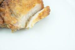 Foto di riserva - la carne di maiale striata ha fritto la salsa di pesce Immagini Stock Libere da Diritti