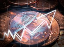 Foto di riserva di Penny Stock Investing High Quality immagine stock