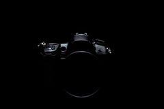 Foto di riserva scura/immagine della macchina fotografica moderna professionale di DSLR Fotografie Stock Libere da Diritti