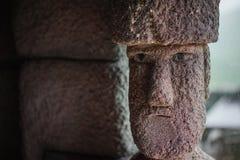 Foto di riserva - statua di pietra umana in giardino Fotografie Stock Libere da Diritti