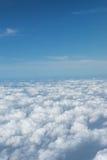 Foto di riserva - vista della nuvola e del cielo sull'aereo Fotografie Stock Libere da Diritti