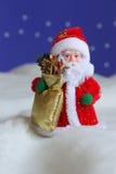 Foto di scorta di schede della Santa di natale Immagini Stock Libere da Diritti