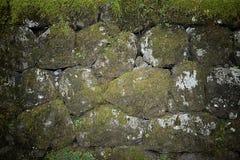 Foto di struttura della parete di pietra per fondo Immagine Stock