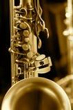 Foto di tecnologia del sassofono fotografia stock libera da diritti