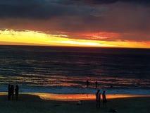 Foto di tramonto della spiaggia di Noarlunga del porto Immagini Stock Libere da Diritti