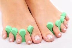 Foto di trattamento di bellezza dei piedi puliti Fotografie Stock Libere da Diritti