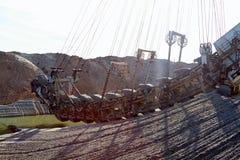 Foto di un escavatore gigante della cava Immagine Stock Libera da Diritti