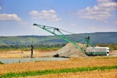 Foto di un escavatore gigante della cava Fotografie Stock