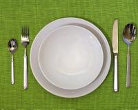 Foto di un insieme di pranzo Fotografie Stock