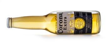 Foto di una bottiglia di Corona Extra Beer fotografia stock libera da diritti