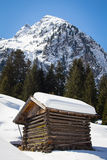 Vista alpina fotografie stock
