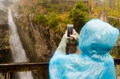 Foto di una cascata Parco narodny di Tatransky Vysoke tatry slovakia fotografia stock libera da diritti