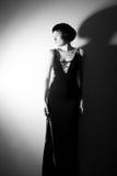 Foto di una donna nello stile 20 di ` s Fotografie Stock