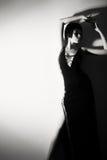 Foto di una donna nello stile 20 di ` s Fotografia Stock