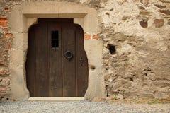 Foto di vecchia porta e parte della parete Fotografia Stock Libera da Diritti