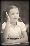Foto di vecchio stile dall'età elementare Immagini Stock Libere da Diritti