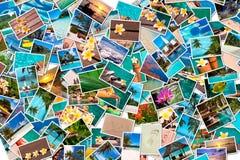 Foto di viaggio della spiaggia e del mare Immagini Stock