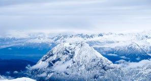 Foto di viaggio di Zugspitze - più alto picco di Germany's Fotografia Stock Libera da Diritti