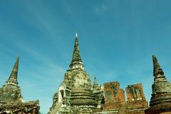 Foto di Wat Phra Si Sanphet nella vista splendida Fotografie Stock