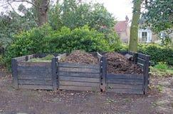 Het recyclingsdozen van het compost stock afbeelding