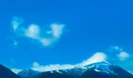 Foto die een mooi humeurig ijzig landschap afschilderen Europese alp Royalty-vrije Stock Afbeelding