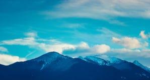 Foto die een mooie humeurige ijzige landschaps Europese alpi afschilderen Royalty-vrije Stock Afbeeldingen