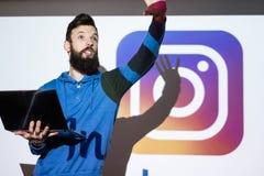 Foto die van het Instagram de sociale netwerk online delen Royalty-vrije Stock Fotografie