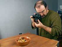 Foto die voedsel schieten Stock Afbeelding