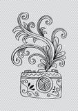 Foto digitale camera met bloemenontwerp Vector Illustratie