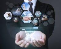 Foto digitale di previsione, computer di nuova tecnologia Immagine Stock Libera da Diritti
