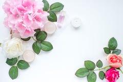 Foto diseñada con las flores Imágenes de archivo libres de regalías