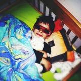 Foto divertida del niño Imagenes de archivo