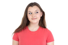 Foto do adolescente que olha a esquerda Imagens de Stock