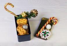 Foto do alimento da composição do Natal Imagens de Stock