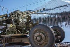 Canhão que permanece na baía Foto de Stock Royalty Free