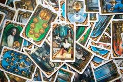 Foto do cartão de tarô Fotografia de Stock