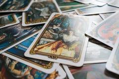 Foto do cartão de tarô Imagem de Stock