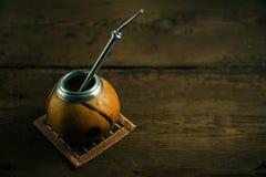 Foto do chá do companheiro de Yerba Fotografia de Stock